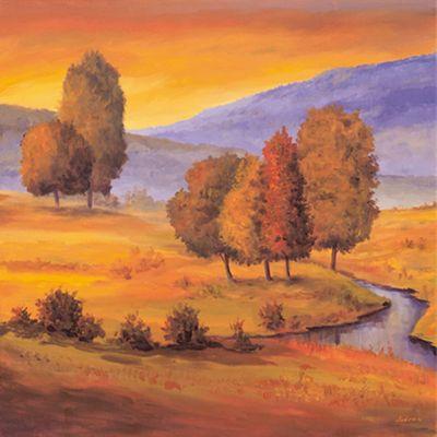 Andres: Sunny Landscape II - Original auf Leinwand 70 x 70 cm