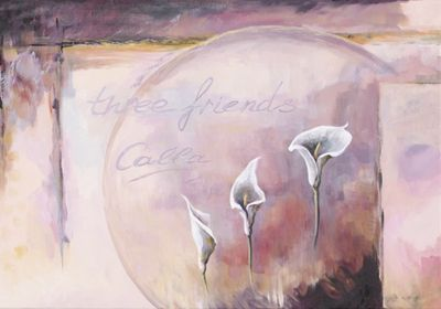 A. S.: Three friends_Calla - Original auf Leinwand 70 x 100 cm