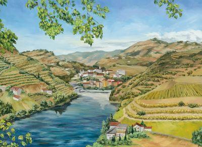 Tanja Kowak: Portugallandschaft - Original auf Leinwand 80 x 110 cm