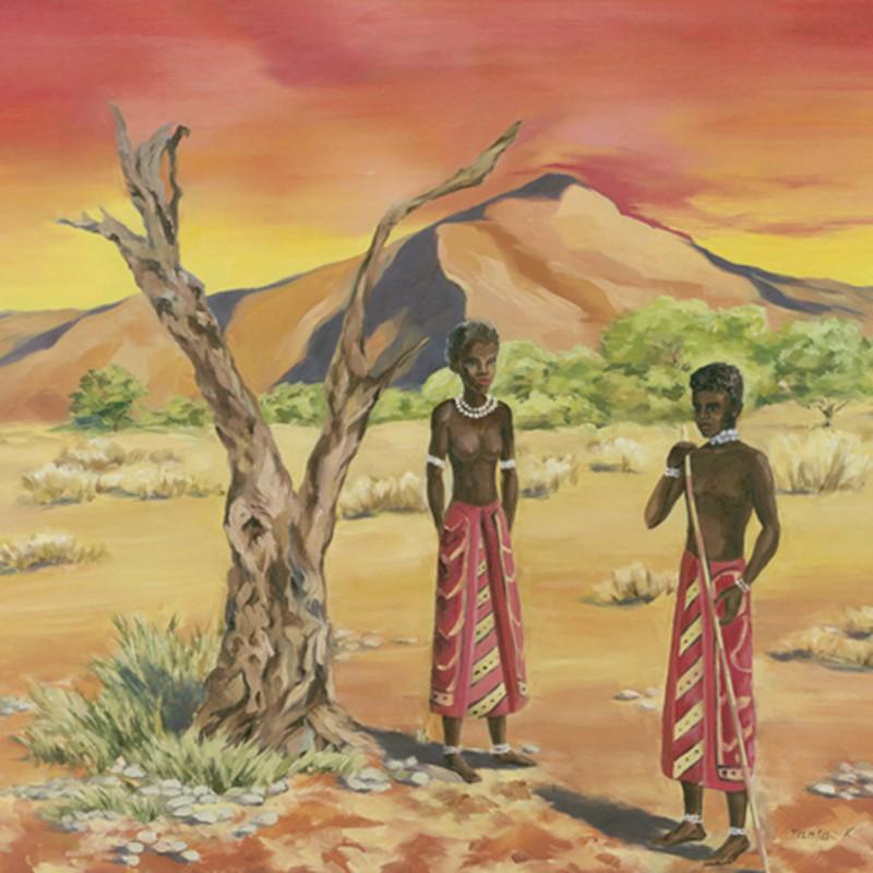 Tanja Kowak: African People I - Original auf Leinwand 80 x 80 cm