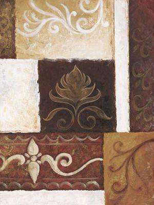 A. S.: Ornamente I - Original auf Leinwand 80 x 60 cm