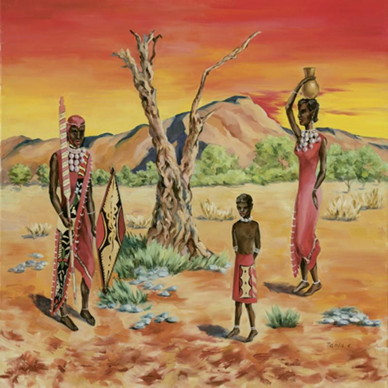 Tanja Kowak: African People - Original auf Leinwand 80 x 80 cm