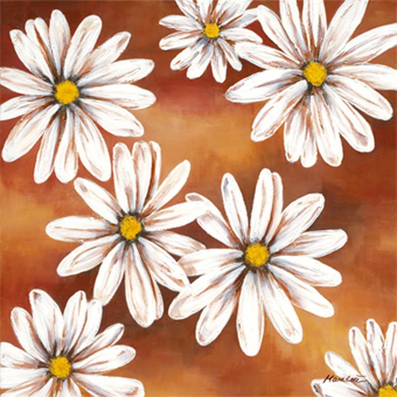 Marie Lou: Flower Impression - Original auf Leinwand 60 x 60 cm