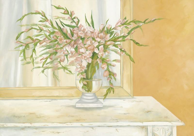 Tanja Kowak: Blumenbouquet - Original auf Leinwand 70 x 100 cm