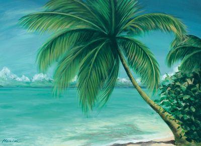 Marie Lou: Palm Beach - Original auf Leinwand 80 x 110 cm