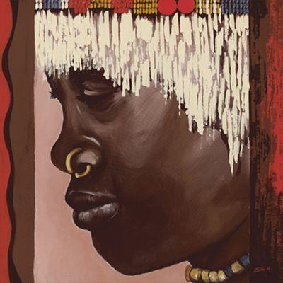 Ellen F.: Nuba - Original auf Leinwand 80 x 80 cm
