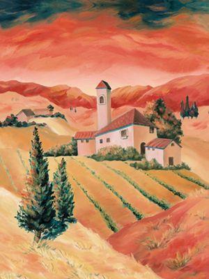 Tanja Kowak: Landschaft II - Original auf Leinwand 100 x 70 cm