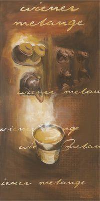 Michael Francis: Wiener Melange - Original auf Leinwand 100 x 50 cm