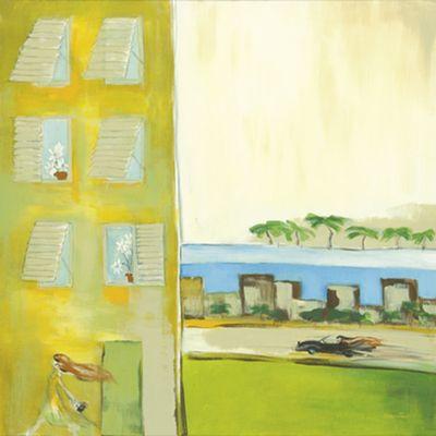 Michael Francis: Miami Beach - Original auf Leinwand 80 x 80 cm