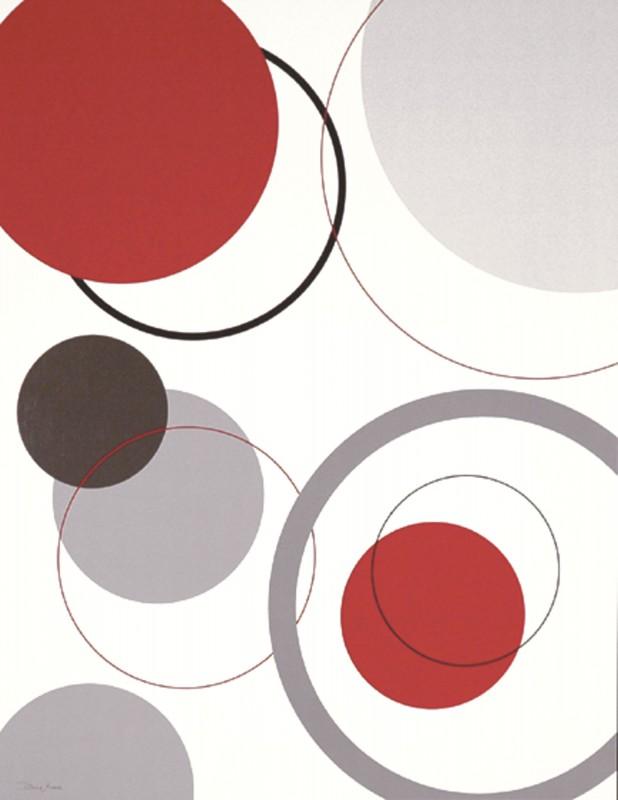 Diane Moore: Circle Design - Kunstdruck auf Holzfaserplatte 49 x 39 cm