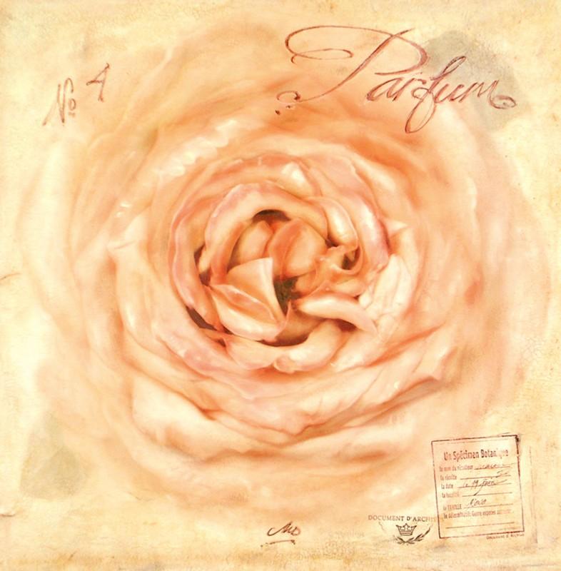 Maura Dutra: Parfum No. 4 - Kunstdruck auf Holzfaserplatte 68 x 68 cm