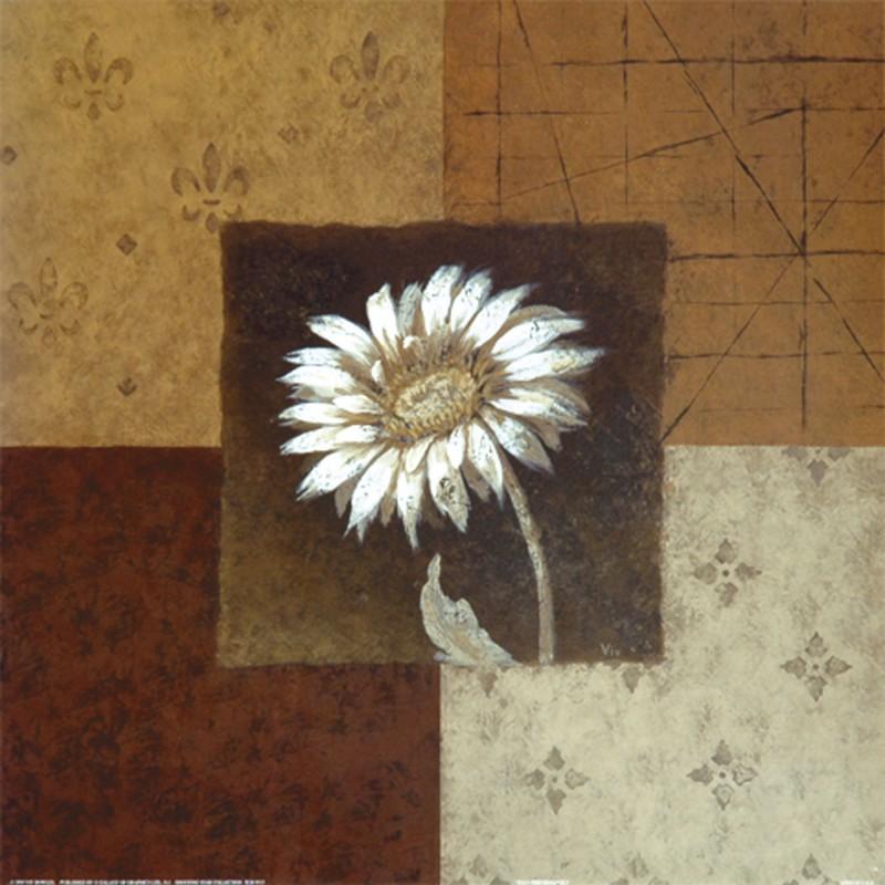 Viv Bowles: Solo Performance I - Kunstdruck auf Holzfaserplatte 39 x 39 cm