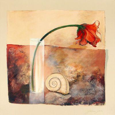 Juliane Jahn: Sinfonie I - Kunstdruck auf Holzfaserplatte 69 x 69 cm
