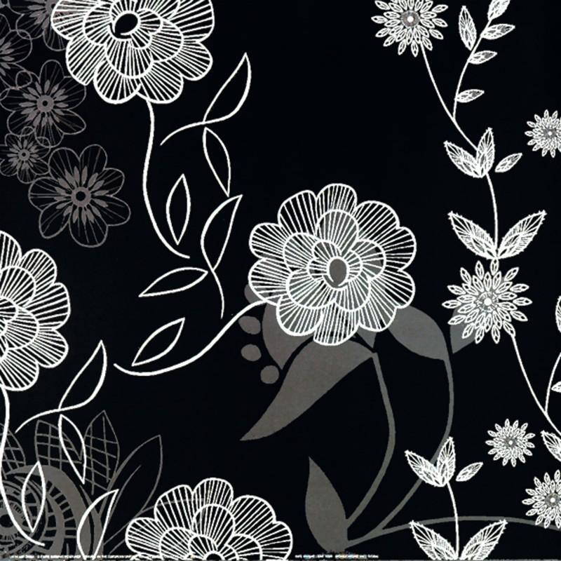 Kate Knight: Monochrome Lace Floral - Kunstdruck auf Holzfaserplatte 49 x 49 cm