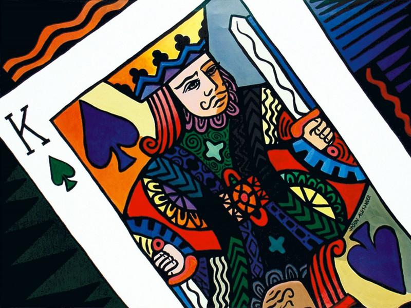 Jason Alexander: King of Spades - Kunstdruck auf Holzfaserplatte 52 x 69 cm