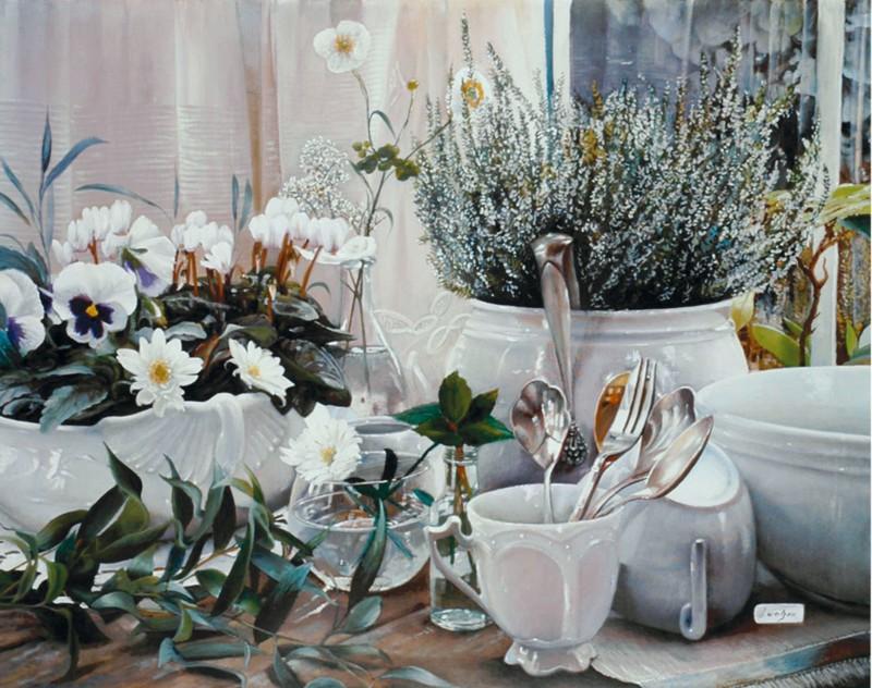 Danka Weitzen: Posate - Kunstdruck auf Holzfaserplatte 54 x 69 cm