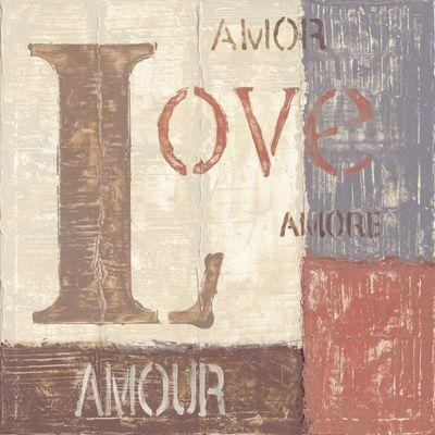 A. S.: Love - Original auf Leinwand 70 x 70 cm