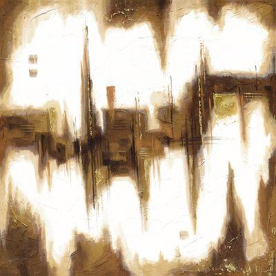 A. Hecht: Ginger Space II - Original auf Leinwand 100 x 100 cm