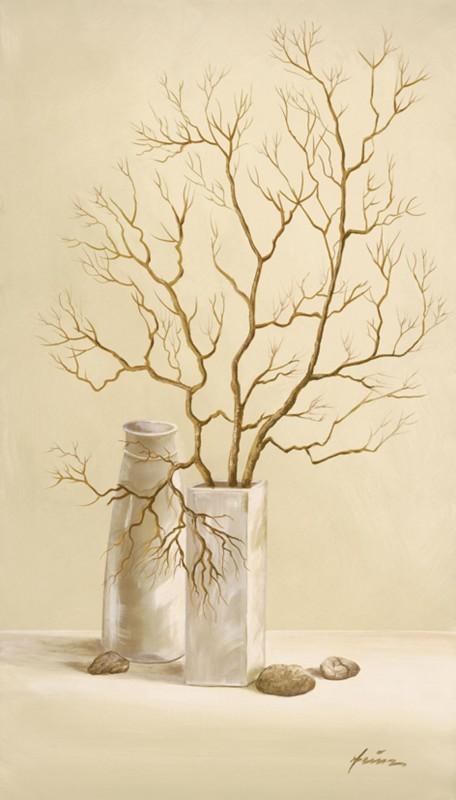 A. Heins: Lindenzweig - Kunstdruck auf Holzfaserplatte 69 x 39 cm