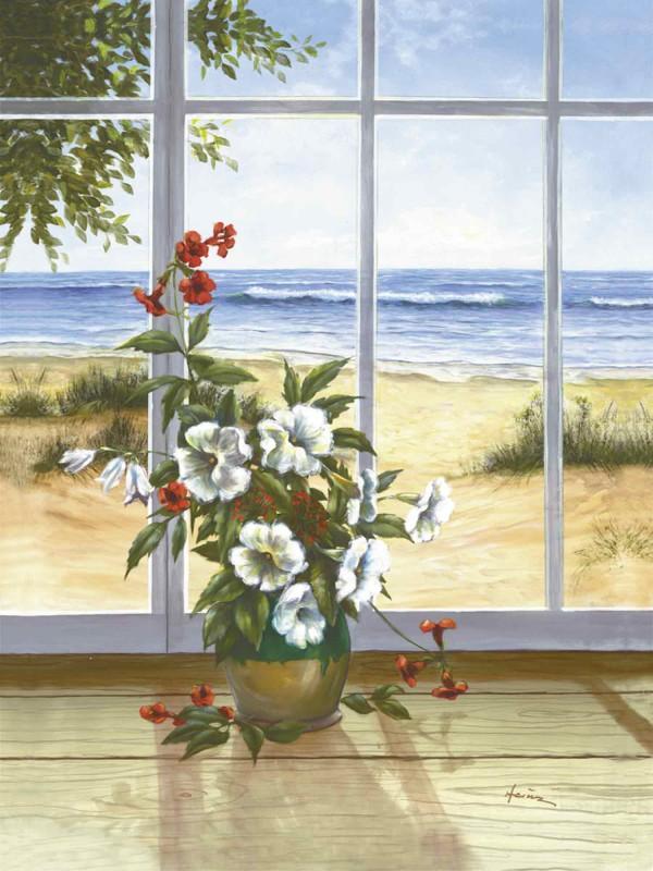 A. Heins: Meerblick - Kunstdruck auf Holzfaserplatte 79 x 58 cm