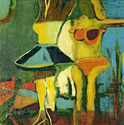 D. Grater: Frauen - Original auf Leinwand 60 x 60 cm