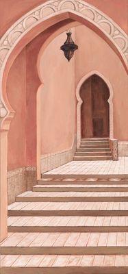 Andres: Oriental - Original auf Leinwand 150 x 70 cm