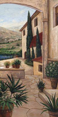 A. S.: Finka - Original auf Leinwand 150 x 75 cm