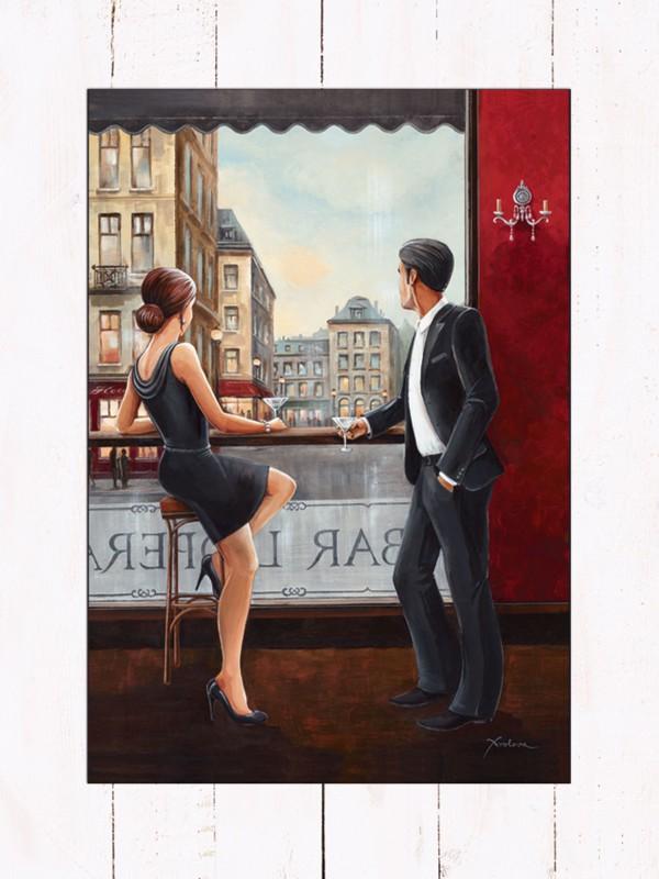 Xenia Frolova: Bar - Bild mit Modellrahmen 80,9 x 59,9 cm