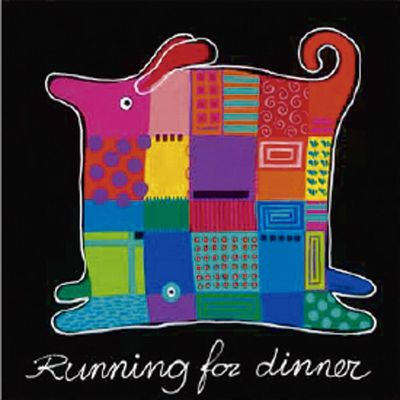 Hope: Running for Dinner - Kunstdruck auf Holzfaserplatte 49 x 49 cm