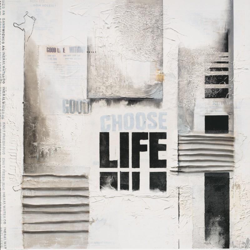 Marie-Louise Oudkerk: Choose Life - Kunstdruck auf Holzfaserplatte 69 x 69 cm