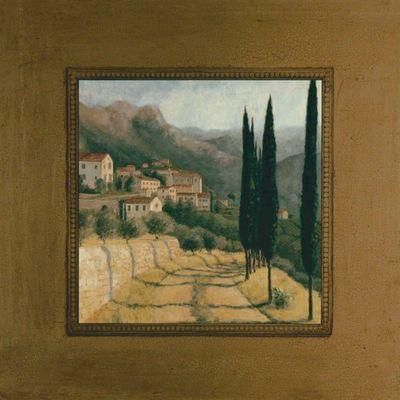 Jill Schultz McGannon: Paessagio - Kunstdruck auf Holzfaserplatte 44 x 44 cm