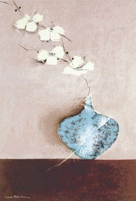 Marilyn Robertson: Jade II - Kunstdruck auf Holzfaserplatte 58 x 39 cm