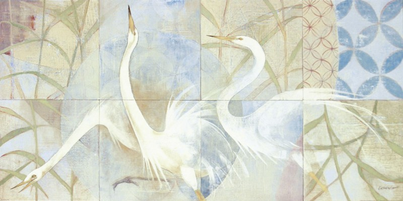 Katherine Lovell: Meadowlands - Kunstdruck auf Holzfaserplatte 45 x 89 cm