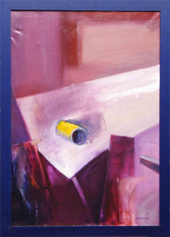 B. Muszynski: Stillleben - Original auf Leinwand, gerahmt 126 x 96 cm