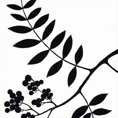 A. S.: Schatten der Beeren - Original auf Leinwand 45 x 45 cm