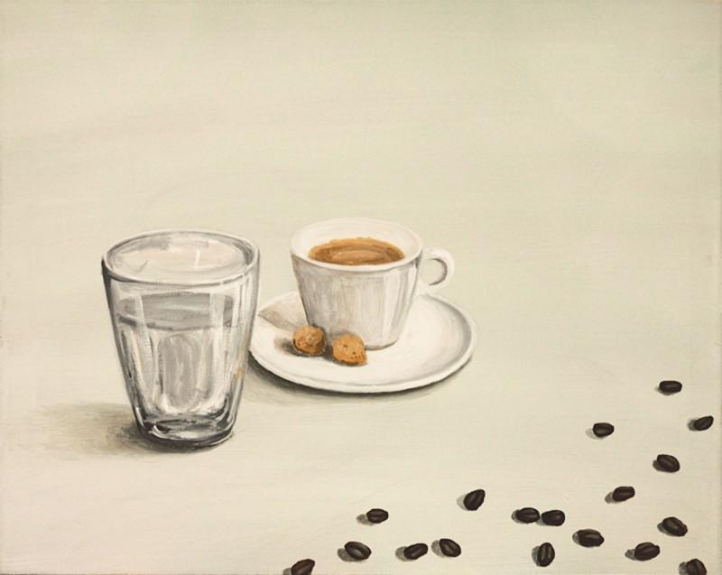 A. S.: Espresso - Original auf Leinwand 48 x 60 cm
