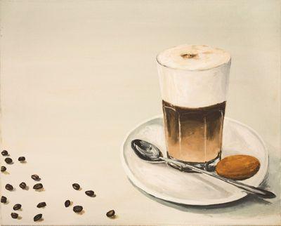 A. S.: Latte Macchiato - Original auf Leinwand 48 x 60 cm
