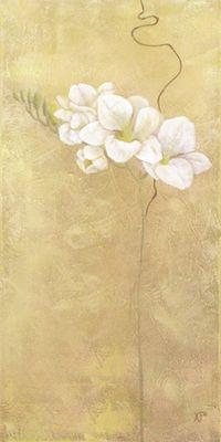K. Frolova: Aparte Fresie - Original auf Leinwand 100 x 50 cm