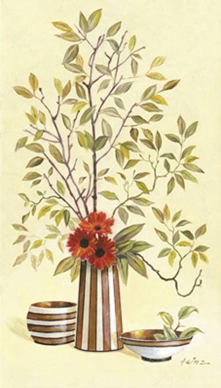 A. Heins: Streifige Vasen IV - Original auf Leinwand 70 x 40 cm