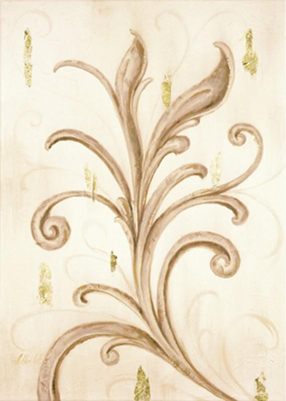 A. S.: Goldene Ornamente I - Original auf Leinwand 70 x 50 cm