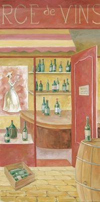 Tanja Kowak: Weinstube - Original auf Leinwand 80 x 40 cm