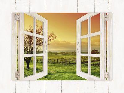 Kwest: Landschaft mit Weinbergen - Bild mit Modellrahmen 59,9 x 80,9 cm
