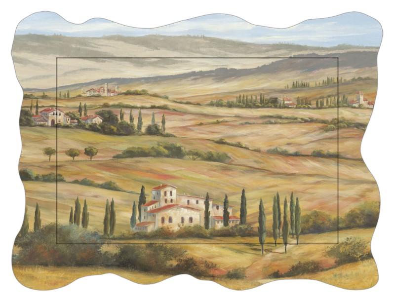A. Heins: Toskanisches Tal - Bild mit Modellrahmen 60,4 x 80,9 cm