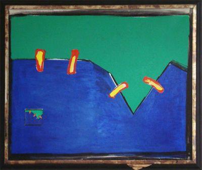 Witold Olesiar: Wiederholung - Original auf Leinwand, gerahmt 96 x 110 cm