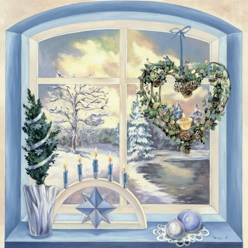 Tanja Kowak: Winterimpressionen - Original auf Leinwand 80 x 80 cm