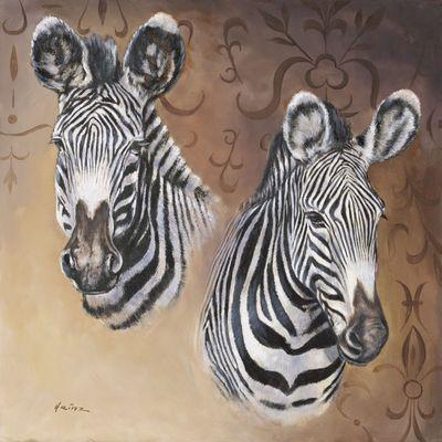 A. Heins: Zebra - Portraits - Original auf Leinwand 70 x 70 cm