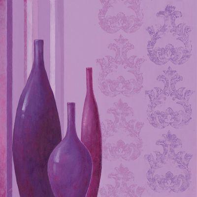 A. S.: Lila Sinfonie - Original auf Leinwand 70 x 70 cm