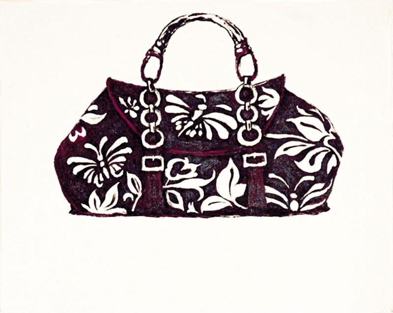 A. S.: Handtasche - Original auf Leinwand 40 x 50 cm