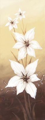 A. S.: Blumige Entartung I -Lilien - Original auf Leinwand 80 x 30 cm