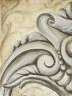 A. S.: Ornamente V - Original auf Leinwand 24 x 18 cm